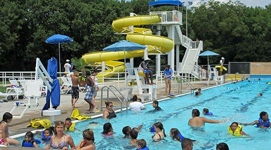 Bradfield Pool  Slides